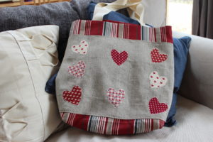 Applique tote bag
